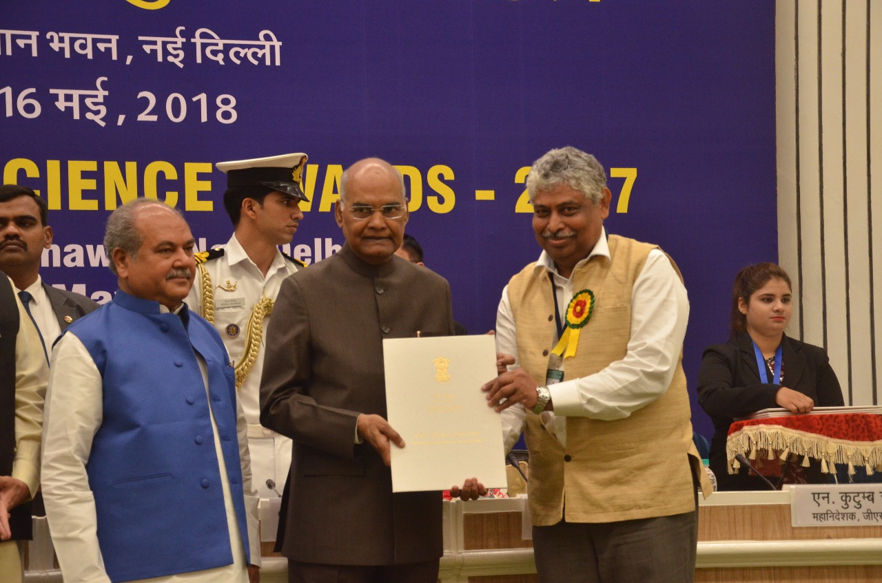 Dr. D. Srinagesh, Chief Scientist, CSIR- NGRI, Hyderabad, has been selected for the prestigious National Geoscience Award (earlier known as National Mineral Award) by the Ministry of Mines, Govt. of India for the year 2017 for his significant contributions in the field of Natural Hazard Investigations (Individual Award)